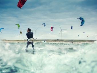 """Kitesurfing spot <br>""""The slufter"""""""