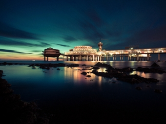 Scheveningen Pier at Night